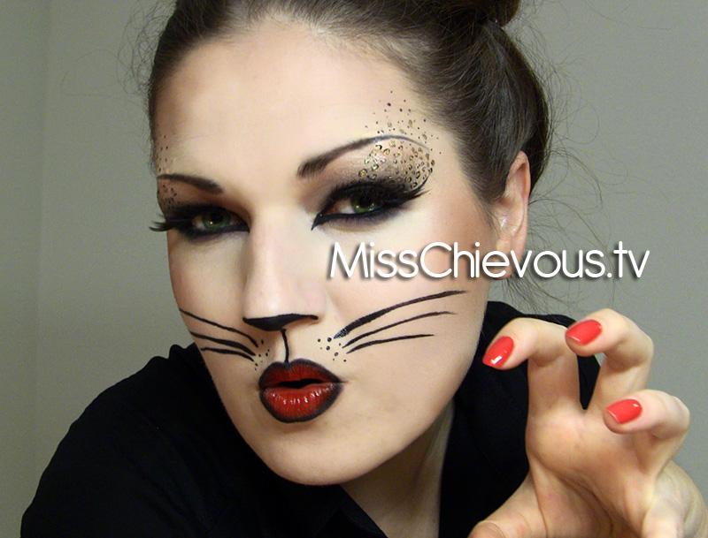 Макияж и костюм кошки на Хэллоуин (+33 фото и видео) - образ для женщины